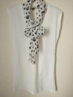🚚 絲巾長版上衣 #一百元好物