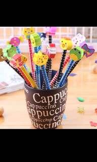 Buy 5 get 1 free!! Kids pencils and eraser brand new