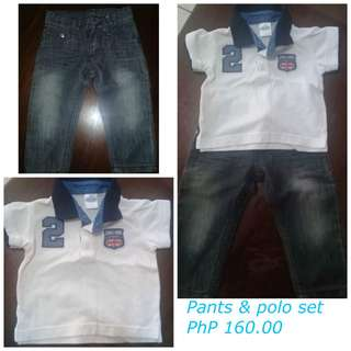 Polo shirt and pants