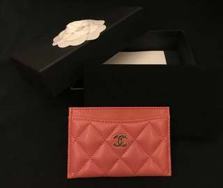 Chanel Card Holder classic (pink)