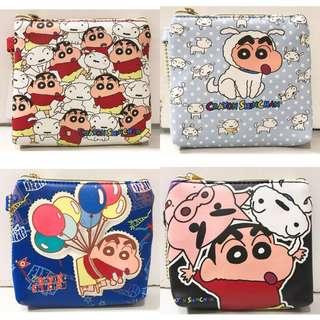 🚚 蠟筆小新CRAYON SHIN-CHAN野原新之助卡套零錢包 拉鍊包 附卡套夾