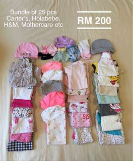 *Reduced* Bundle of 25 pcs baby girl clothes