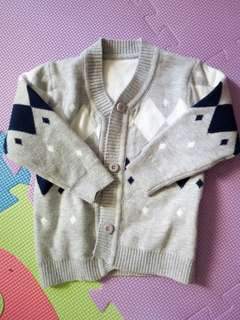 Knitted jacket for baby boy