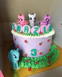 Little Pony Themed Birthday Cake