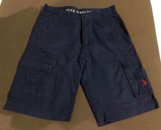 USPA navy blue shorts