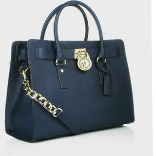 Michael Kors Hamilton medium navy