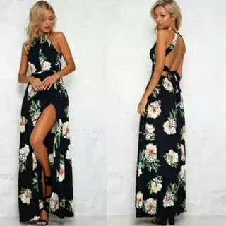 SALE Long dress bunga