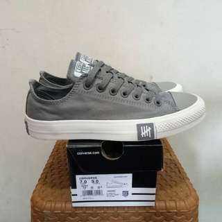 CONVERSE ALLSTARS LOW UNDEFEATED GREY BNIB FULL TAG BARCODE MADE IN VIETNAM