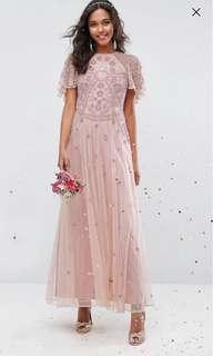 Asos pre wedding dusty pink maxi dress 外影粉紅長裙