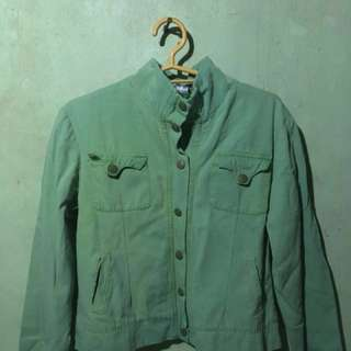 Green military jacket/parka