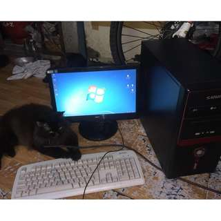 core i3 cpu with lcd monitor