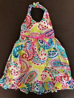 Colorful halter dress for girls