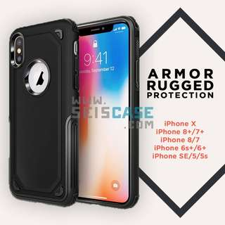 iPhone X 8 7 6 Plus 5 SE OEM Hybrid Armor Protection Case