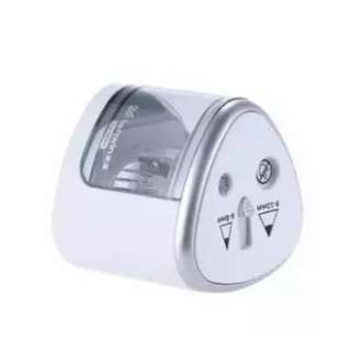 Multi-functional Automatic Electric Pencil Sharpener Battery Operated with 2 Holes Silver