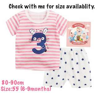 Kids T-shirt set
