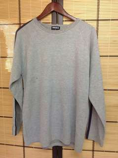 UNIQLO GRAY SWEATSHIRT WITH BLUE PIPING (L)