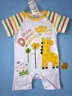 全新 立體長頸鹿連身衣(95碼)嬰兒包屁衣 爬服 兔裝,非背心 T恤 洋裝 外套