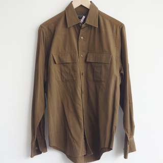 Bannana Republic Men's Shirt Brown Long