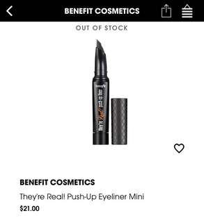 Benefit They're Real! Push-up Eyeliner MINI