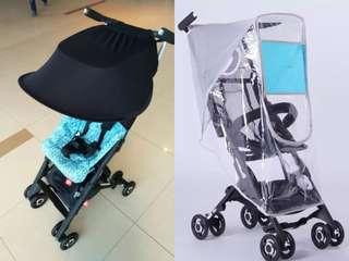🌟[Ready Stocks] BN Pockit Stroller sun shade cover + premium rain cover (Free mail)