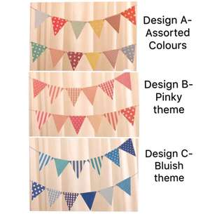 (10/5) Party Flag Wall decoration , backdrop banner bunting