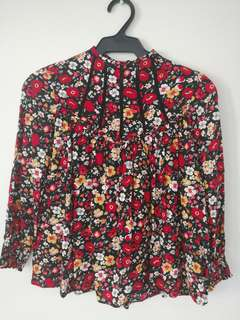 Repriced : Authentic Zara Floral Top
