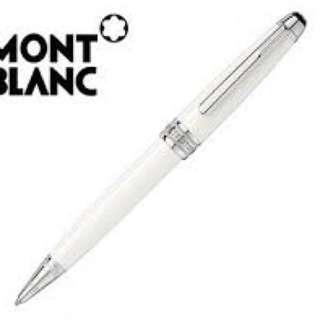 🚚 萬寶龍(MontTBlanc) MP106846 M23268 勃朗峰白色系列圓珠筆 萬寶龍限量版原子筆 9成9新