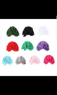Baby girls turban headband tie knot