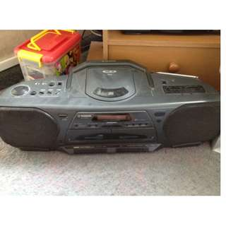 THOMSON Radio CD Stereo Portable TwinDouble Cassette Tape Player Recorder TM9320