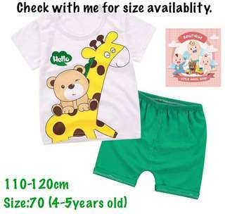 Kids tshirt set