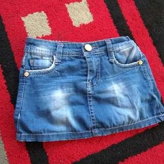 Rok mini jeans anak 2thn #HBDSale