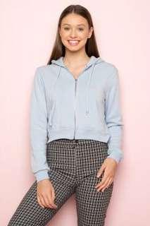 Brandy Melville babyblue crystal hoodie jacket