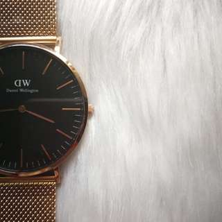 DANIEL WELLINGTON DW WATCH BLACK/GOLD 40MM