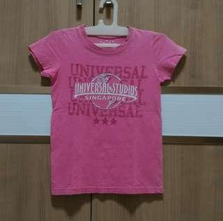 Baju kaos bekas anak perempuan 5-6th, asli singapore