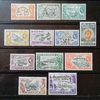[lapyip1230] 英屬尼日利亞 1953年 QEII 新票全套(原膠無背貼) MNH