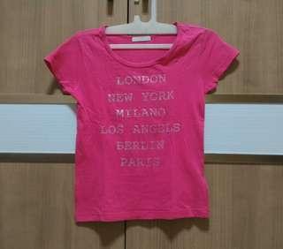 Baju kaos bekas anak perempuan 5-6th