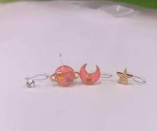 Earlobe earrings