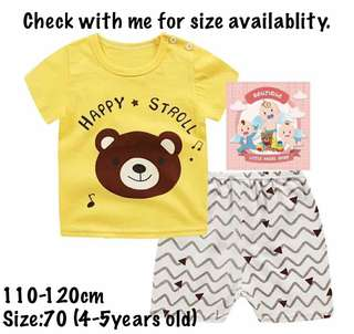 Kids T-shirt set unisex