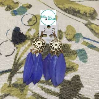 violet dream catcher dangling earings