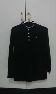 Playboy (Class A) Chinese Collar Long Sleeves - Black
