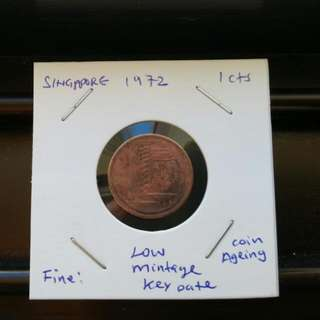 1c/1972/key date/low Mintage.