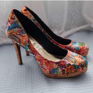 Bright Paint Splash Fioni High Heels