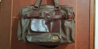 Tas kulit asli Three Box good condition