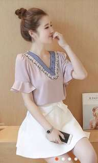 Pink Top & White Skirt Terno!