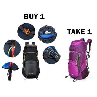 Buy 1 Take 1 Waterproof Hiking Travel Foldable Backpack Bag