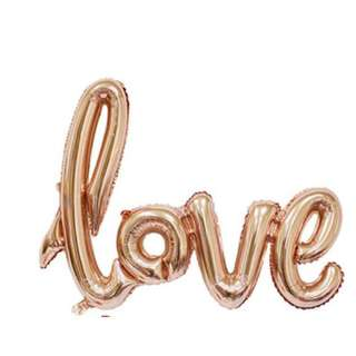 🚚 (IN Stock)love Balloon-Rose Gold-108*65.5cm