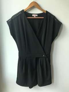 EP Contemporary Black Studded Romper