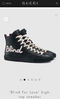"""Gucci """"blind for love"""" high top sneakers"""