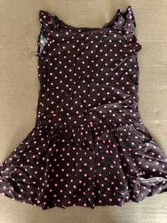 Gap kids Brown pink polka dress