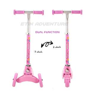MESUCA Multi-Function kid scooters Hello Kitty